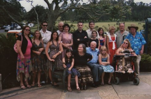 Here we are with all our children and grand-children on our 50th Wedding Anniversary.