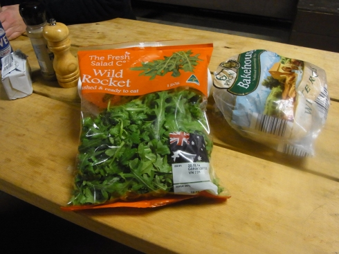 Caroline had brought bags of rock salad along. Delicious!