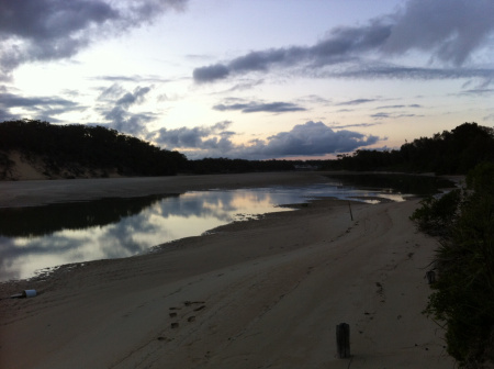 The Inlet at low tide in the evening