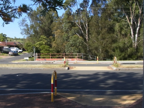 Looking back  towards  a pedestrian crossing at Fowlers Road.
