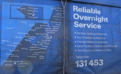 This map was shown on one side of the truck.
