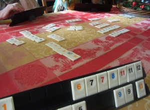 We play Rummy with these tiles.