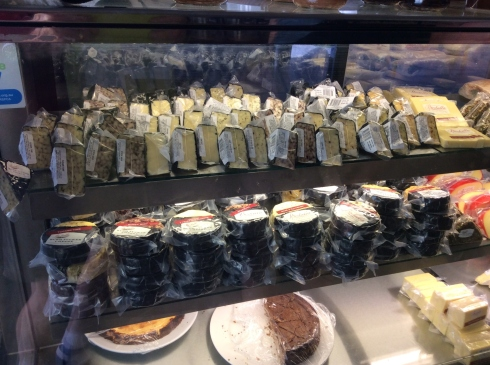A great variety of cheeses to choose from.