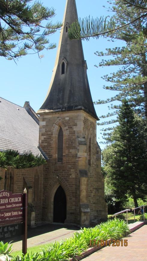 We had found a parking spot in Kiama near this church.