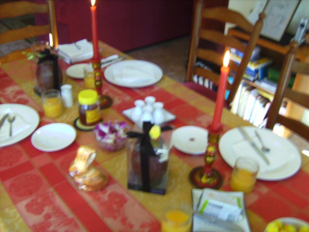 In preparation for breakfast . . .
