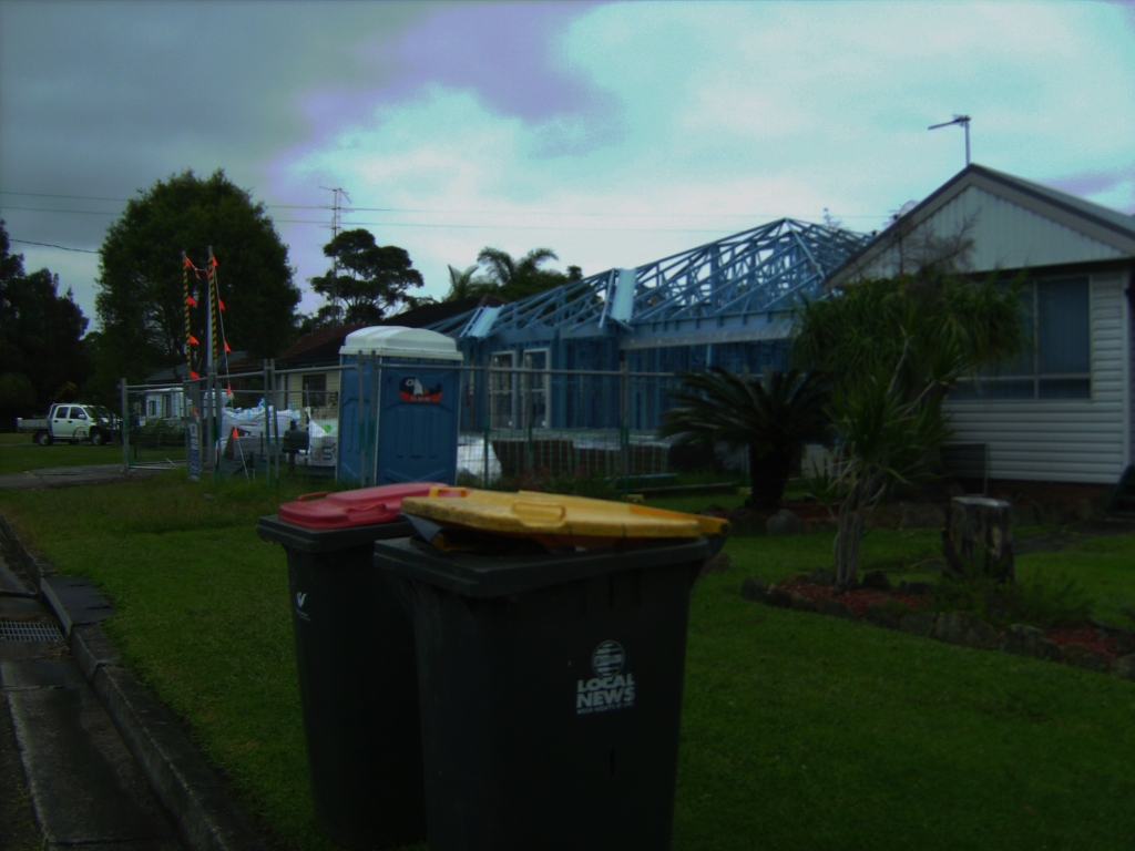 Today,Friday, the bins are out for rubbish collection.