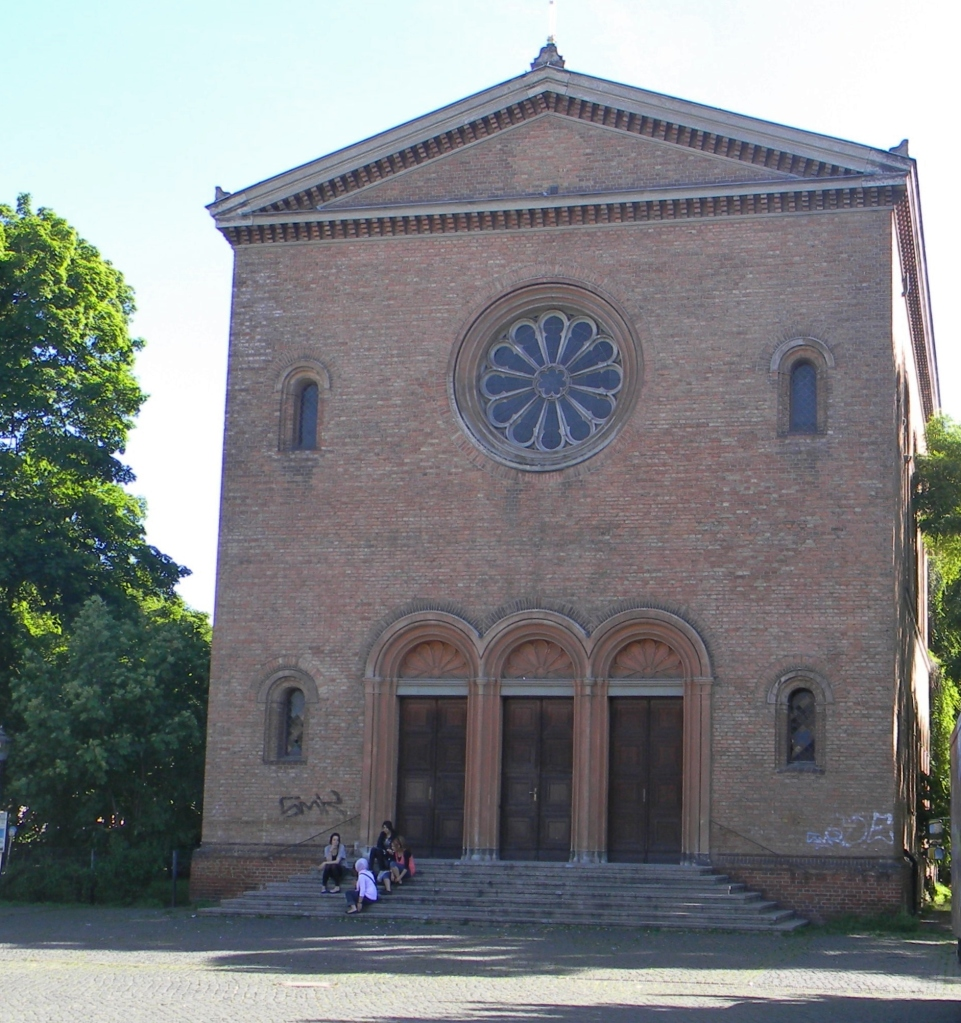 This Church is also in the Wedding borough and designed by Schinkel.