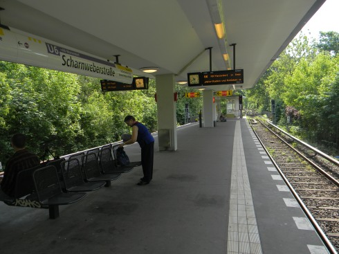 This is the U-Bahn station near where Ilse lives.