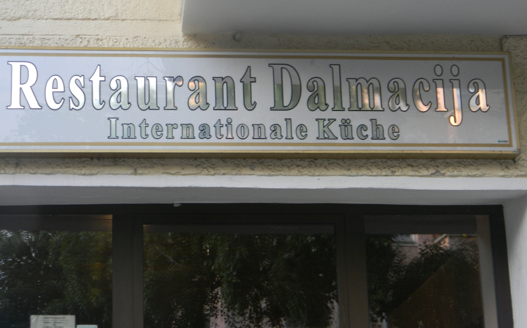 We met at this restaurant in Scharnweber Strasse.