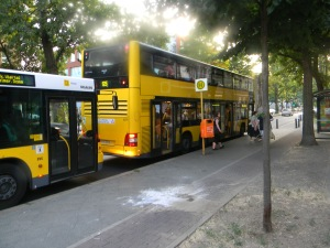 Ilse has the Bus Stop in fronket of her house. U-Bahn Station is only a 5min. walk from there.