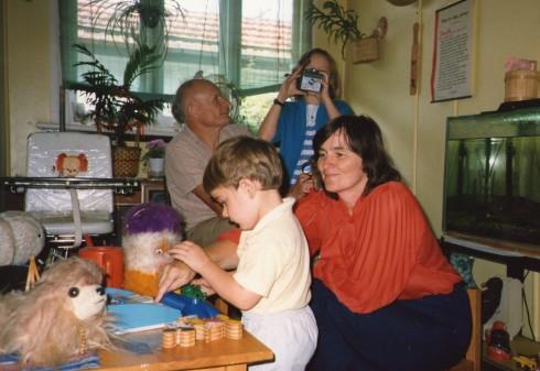Christmas Eve 1987 at David's Parents Place.