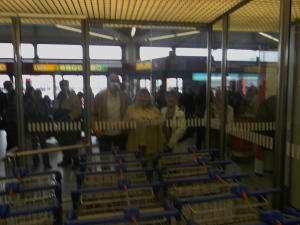 When we arrived at Tegel Airport there were Daniel, Ilse and Ingrid waiting for us.