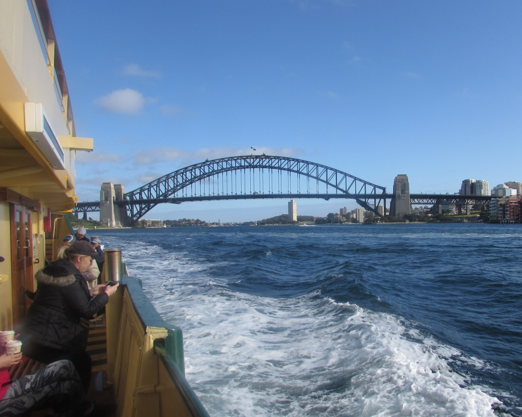Peter took this picture on the way back to Circular Quay.