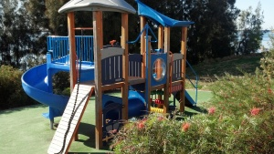 Where the parking area is there is also this beautiful playground.