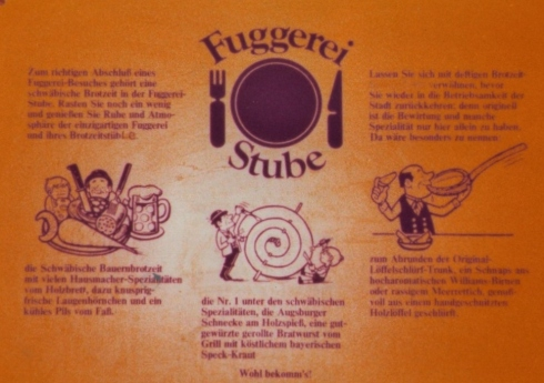 A Restaurant near the Fuggerei