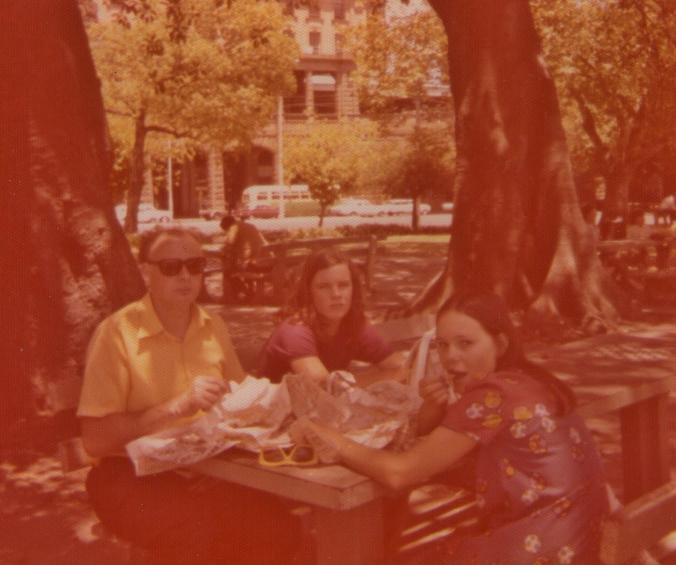 This picture, also in Belmore Park. with Peter Martin and Monika in January 1973.