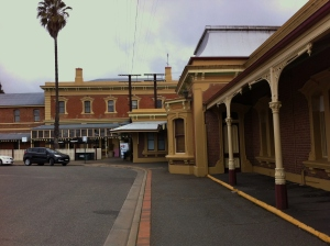 In front of Junee Station