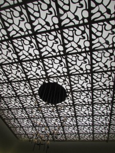 We noticed this great ceiling in the room where we were sitting.