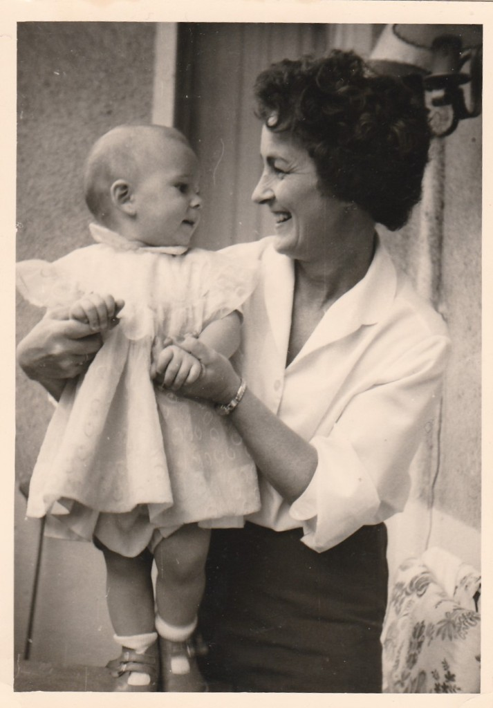 My Mother with Gaby in August 1958