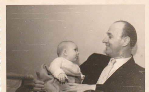 my Father with Gaby in February 1958