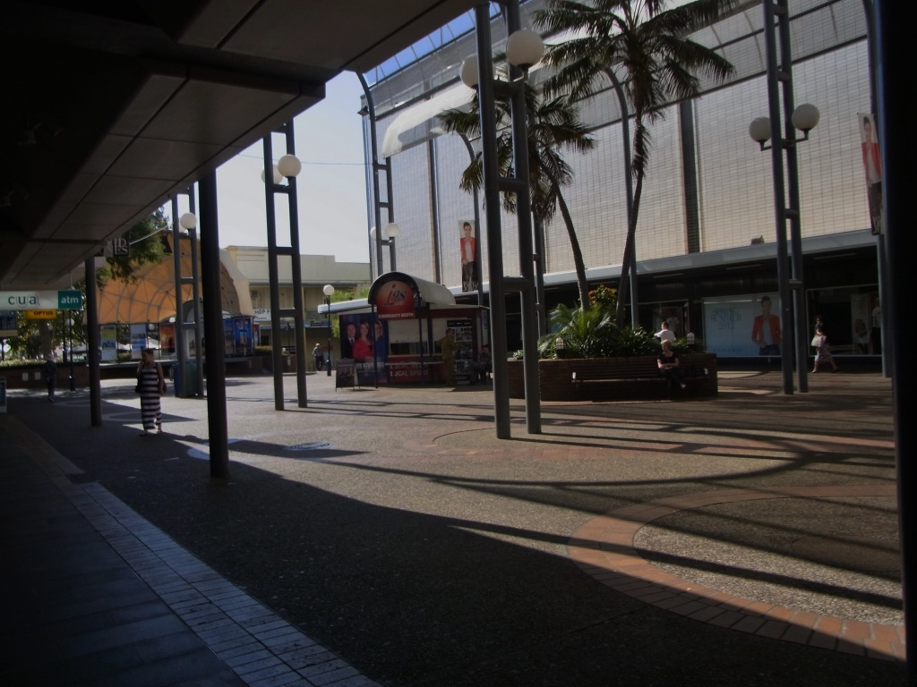This is part of the Wollongong Mall in January 2013
