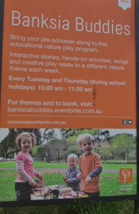 Some advertising for school holiday activities.