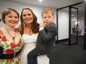 Lucas with his Mum and Great-Aunt Caroline