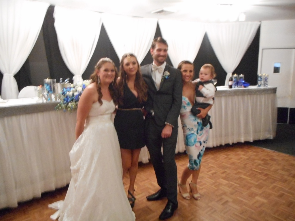 Ebony and Ryan with Krystal, Roxy and little Alexander.