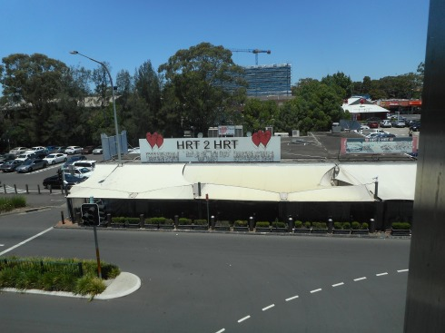 View from the terrace at Stockland Merrylands where we had lunch.