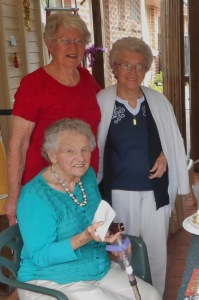 Here is Marion with Doris and Barbara.