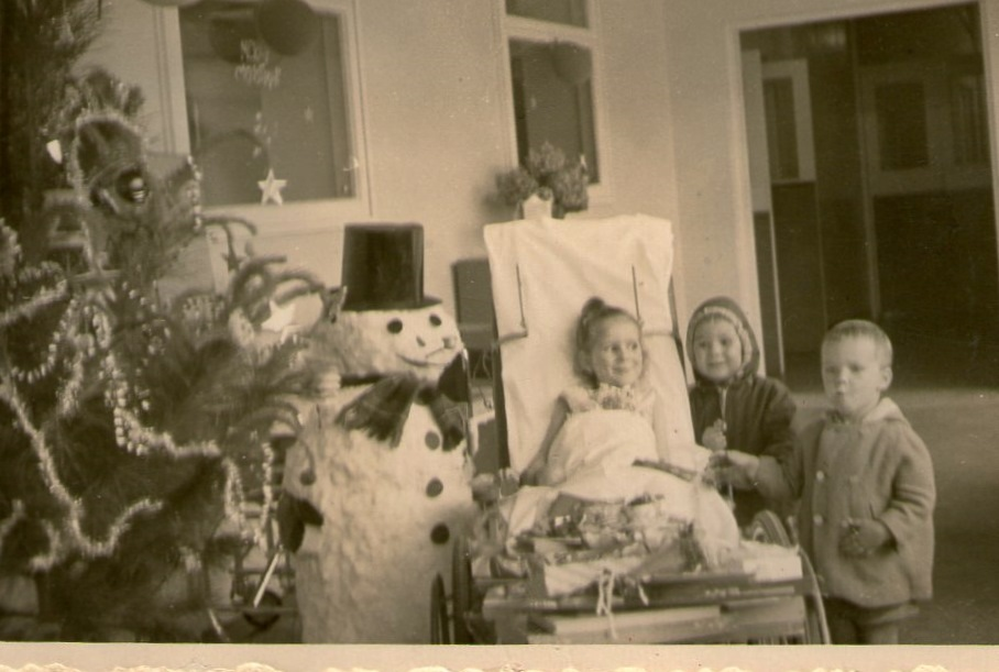 Christmas 1962 Martin and Monika with five year old Gaby , who is in Prince Henry Hospital