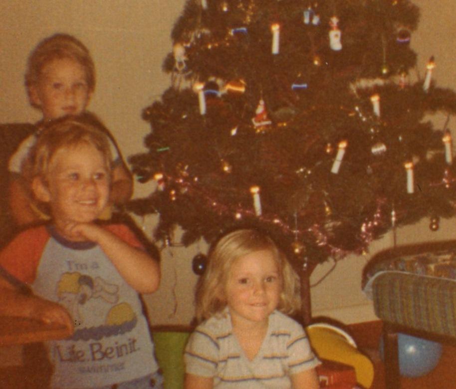 Troy, Ryan and Caroline Christmas Eve 1981