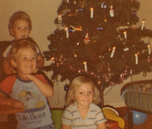 Troy, Ryan and Caroline Christmas Eve 1981