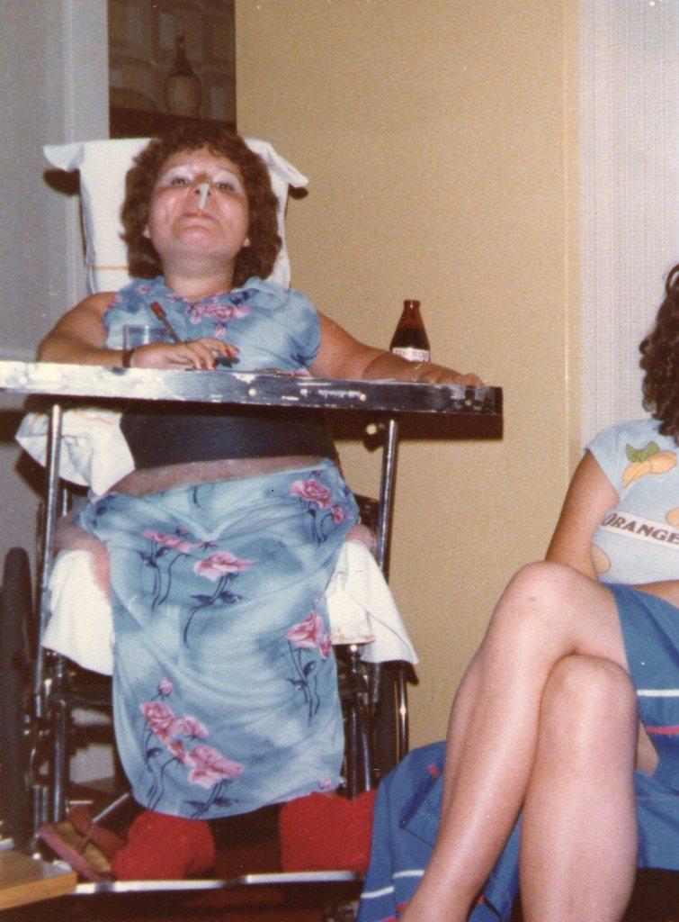 Gaby on Christmas Eve 1981