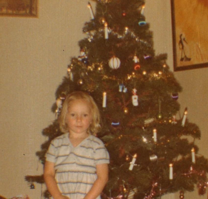 Christmas 1981 Caroline is three