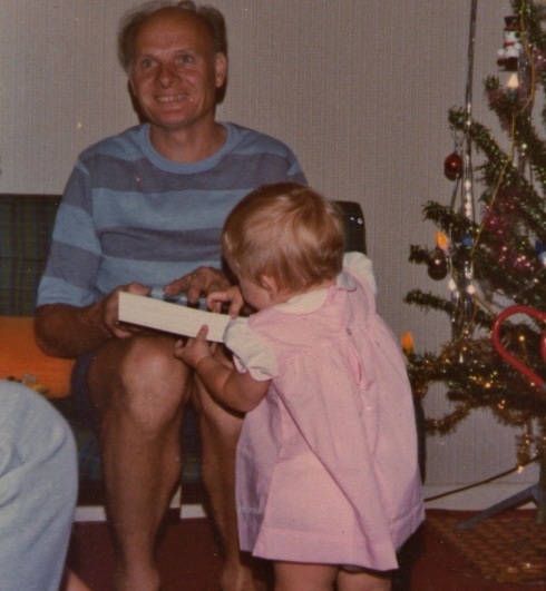 Peter and Caroline Christmas 1979