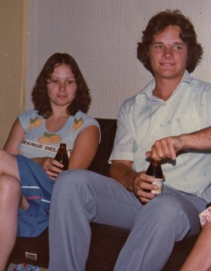 Monika and Martin on Christmas Eve 1981