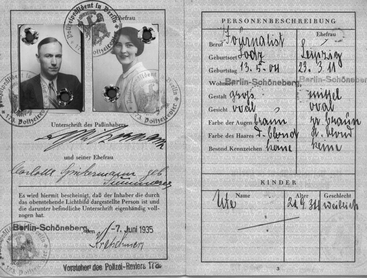 Passport 1935