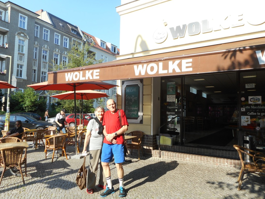 Uta and Peter in Berlin June 2016 We are about to have breakfast at the Wolke on our first day in Berlin.