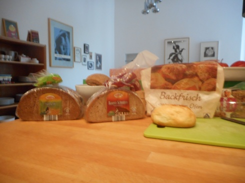 We always bought a good selection of bread.