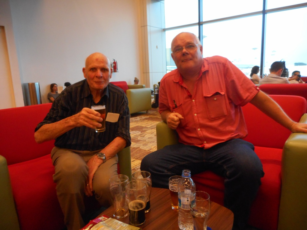 Here is Peter with Martin at Singapore Airport on Friday evening, 1st of July 2016 n