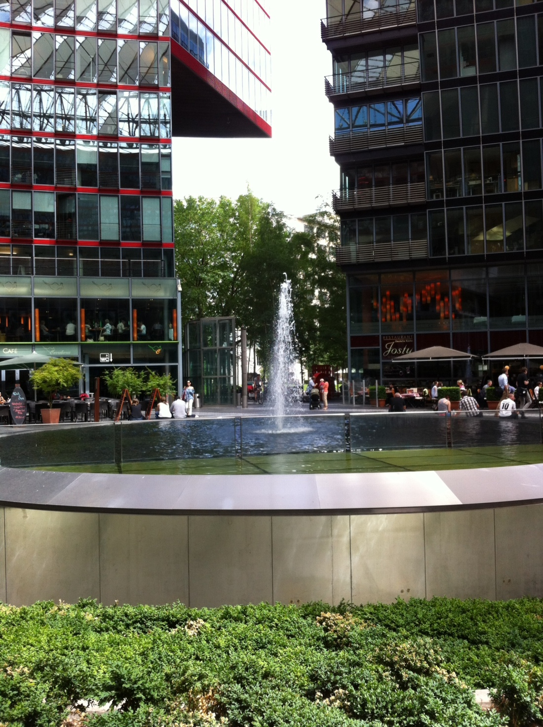In the midst of the Sony Centre (Potsdamer Platz, Berlin Centre)