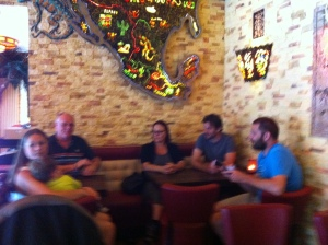 Our family in a Mexican restaurant in Berlin-Kreuzberg
