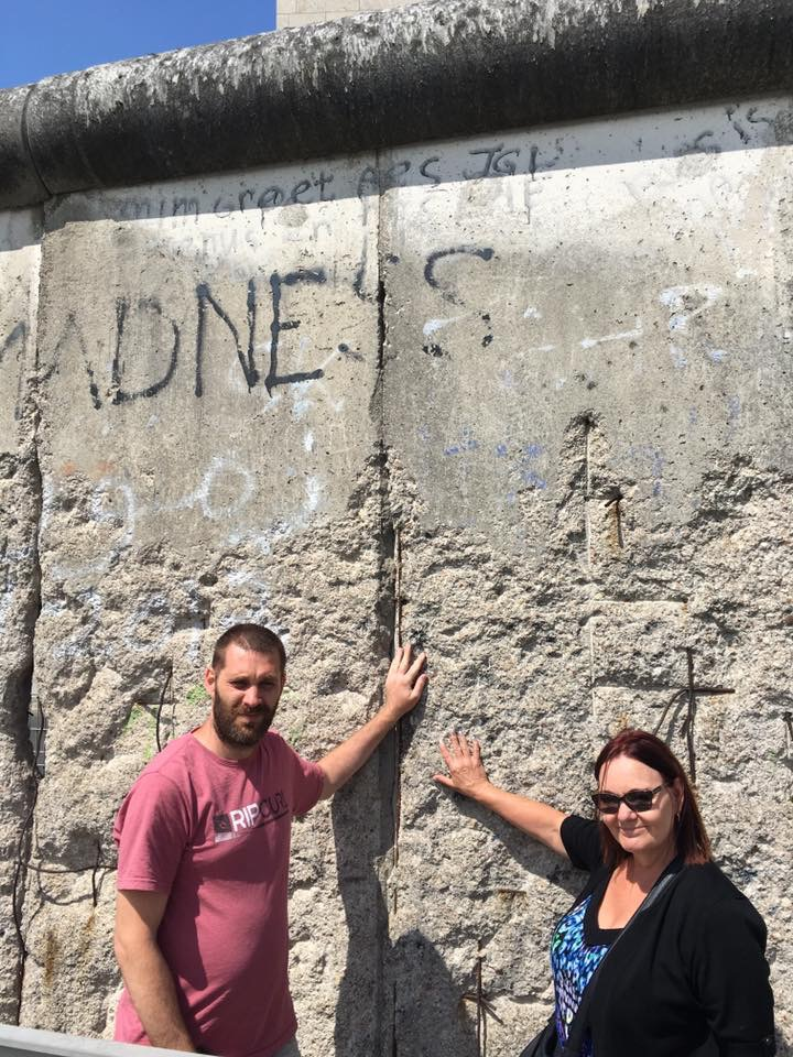 A left over part of the Berlin Wall