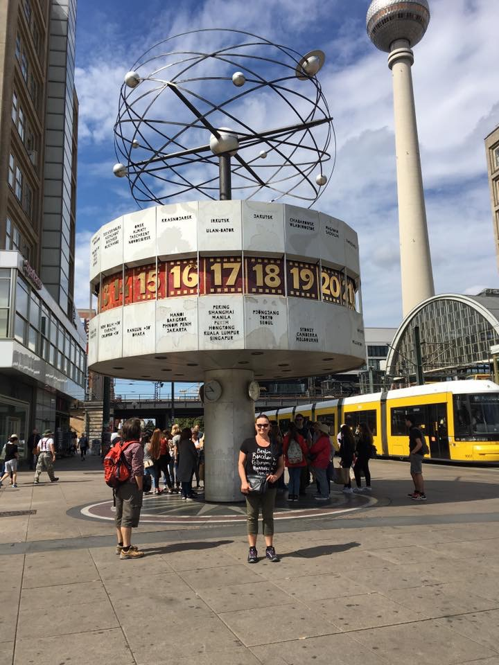 The World Clock (Weltuhr) am Alexander Platz
