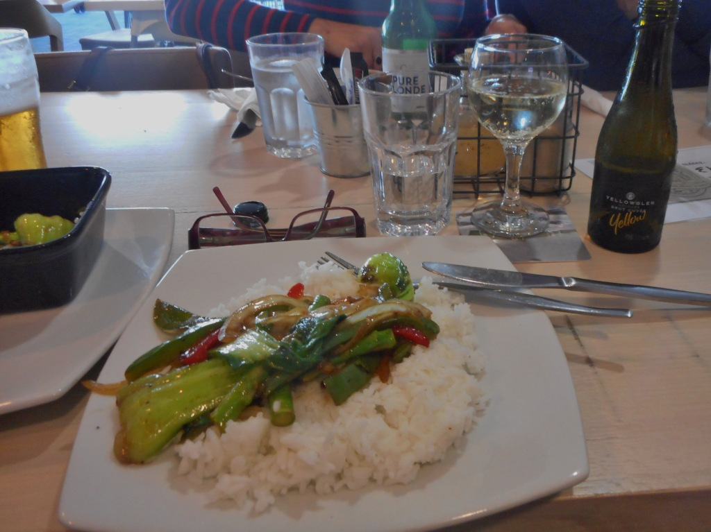 I very much liked the rice and some of the very good tasting vegetables