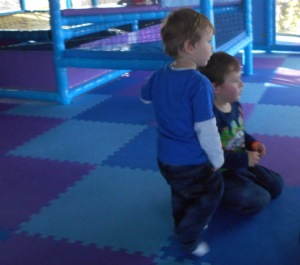 Alexander and Lucas in the club's playground