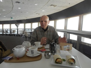 We had some breakfast in the Cafe of the Telstra Tower.