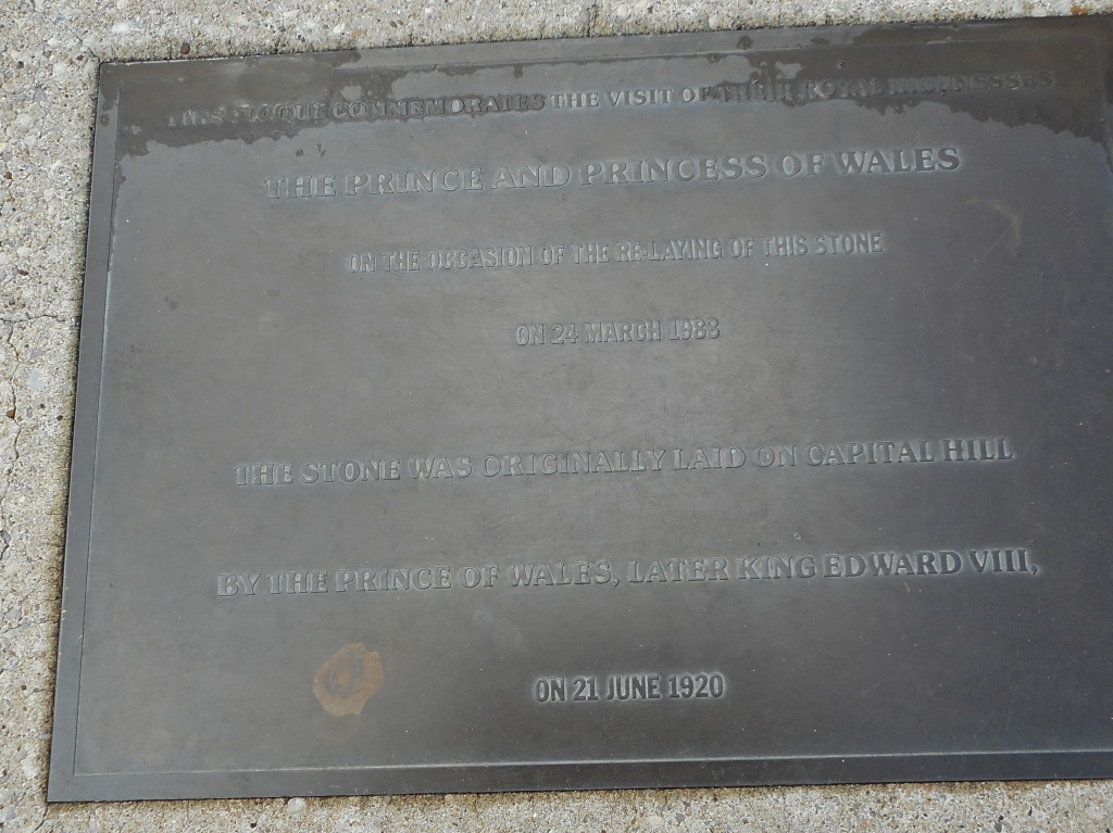 We noticed this plaque on the ground.