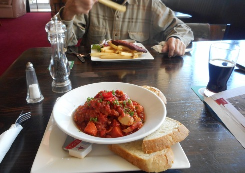 I liked my spicy vegetarian meal. However it turned out, I had to leave some of it. It was just too much!
